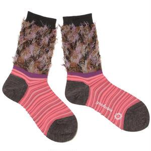 flower comouflage socks / ブラウン