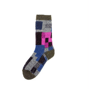 colorful gabbeh socks/グレー