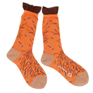 bloken herringbone sock / ブラウン