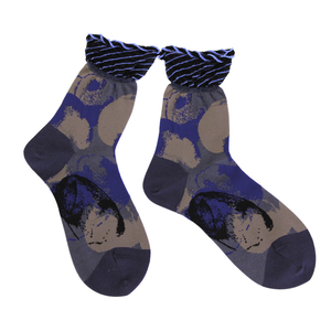 water ripple socks / ブラック