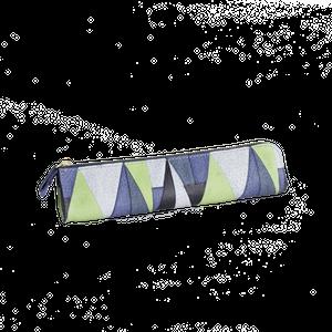 豚革友禅ペンケース / プリズム柄 / ブルー