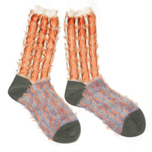 retro blowing socks / ベージュ