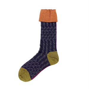 twisted yarn socks/ブラック