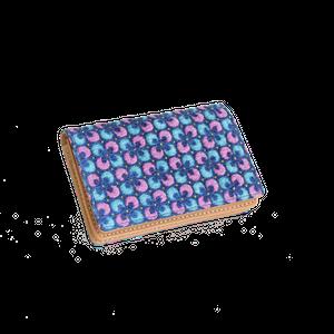 豚革友禅名刺ケース / ぐりぐり柄 / ブルー