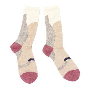 sleep cat socks / グレー