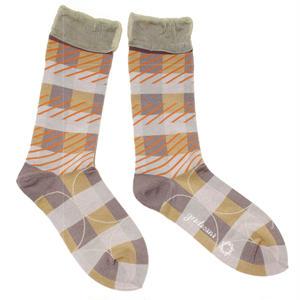 pattern layer socks / グレー