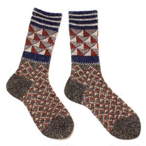triangle light mix socks / パープル