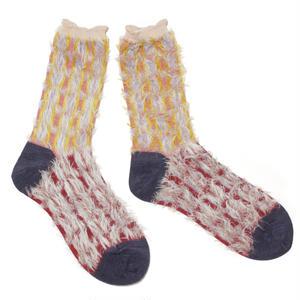 retro blowing socks / パープル