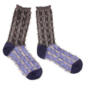 retro blowing socks / グレー