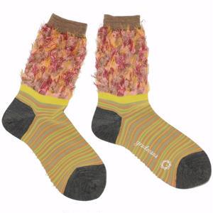 flower comouflage socks / ピンク