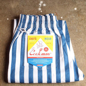 """COOKMAN""Chef Pants 「Wide Stripe」5月中旬再入荷予定"