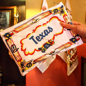 """""""RED and WHITE Kitchen Company"""" Map Pouch[TEXAS]"""