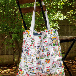 """RED and WHITE Kitchen Company"" Map Tote Bag(Los Angeles)"