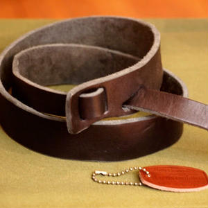 """""""BARNS outfitters"""" Tochigi Leather No Buckle Belt(35mm)"""