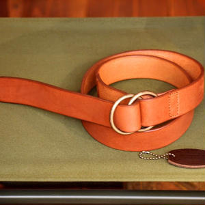 """BARNS outfitters"" Tochigi Leather Ring Belt(35mm)"