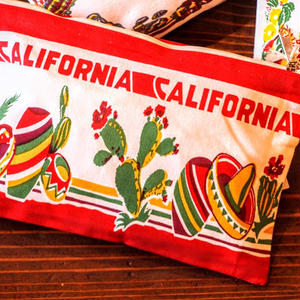 """RED and WHITE Kitchen Company"" Map Pouch[CALIFORNIA]"