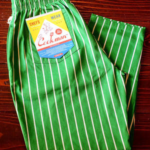 """COOKMAN""Chef Pants 「Pin Stripe」Lt.Green"