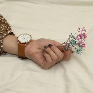 ~2サイズ~シンプル 腕時計 メンズ レディース ライトブラウン