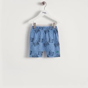 【organic cotton】カメラプリントショートパンツ(ブルー/ベビー)