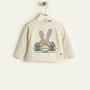 バニーカメラ刺繍ロング袖Tシャツ(ベビー/12-18month)