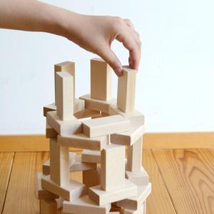【2才〜:造形・想像力】【積み木】ウール・レンガ積木 ベーシック 白木
