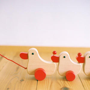 【1才〜:引っぱる玩具】あひるの家族