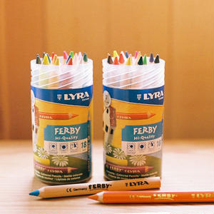 【3才~】【色鉛筆】ファルビー18色PPボックスセット 軸白木/カラー