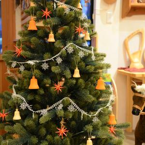 【クリスマス】オーナメント オレンジのベル ( 小 )