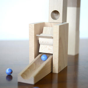 【5才〜】【積木のビー玉転がし・構成玩具】水車セット