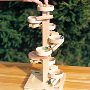 【3才〜大人:見る】玉の塔 ディスク 白木