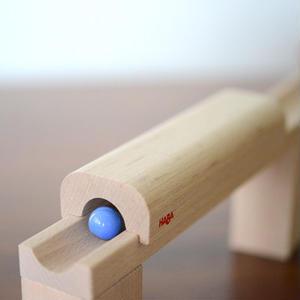 【5才〜】【積木のビー玉転がし・構成玩具】トンネルトラック