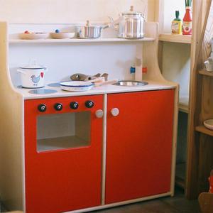 【2才〜】【ままごと用台所】N 流し台+オーブン (組み立て式)【生産終了商品】【在庫:3】