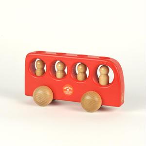 【1才〜】【押す車・入れる・想像】4人のりバス 赤