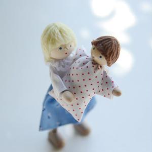 【3才〜:想像遊び・生活遊び】自在人形 母