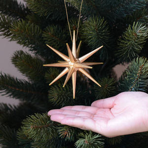 【クリスマス】オーナメント金の星 (大)4個セット