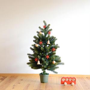 【クリスマス】オーナメント赤い星 (小)6個セット