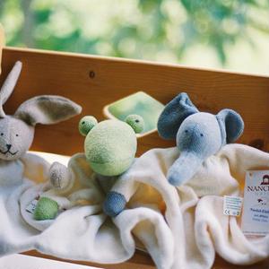【3ヶ月〜】【持つ、握る、口に入れる】ほおずり人形 うさぎ/かえる/ぞう