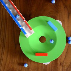【5才〜】【積木のビー玉転がし・構成玩具】グリーンファネル