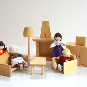 【3才〜:想像遊び・生活遊び】ドールハウス用 居間セット