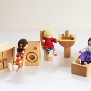 【3才〜:想像遊び・生活遊び】ドールハウス用 バスルームセット