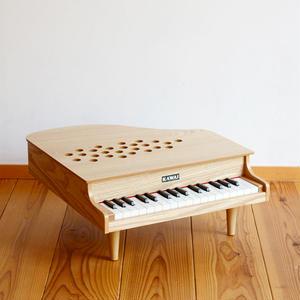 【ピアノ】【指でたたく(弾く)】KAWAI ミニピアノP-32(木目)