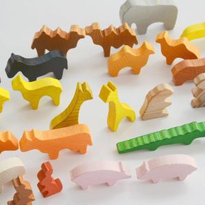 【2才〜】【想像力・指先】ミニ積木  デュシマ動物