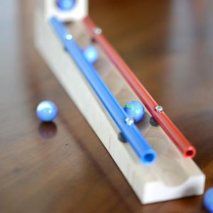 【3才〜】【積木のビー玉転がし・構成玩具】チャイムトラックセット