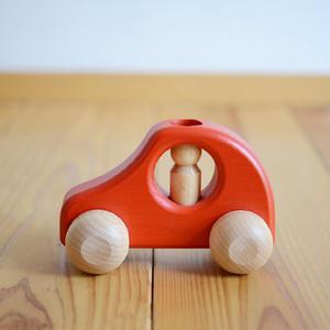 【8ヶ月〜】【押す車・入れる、挿す】1人のりPKW 赤