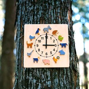 時計 ヤーン動物