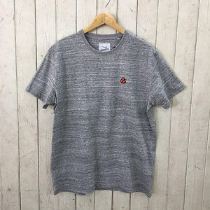 ☆8bitデザインの刺繍Tシャツ☆BRICKTOWN【ブリックタウン】S/S TEE  CHERRY H.GREY