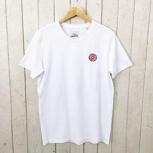 ☆8bitデザインの刺繍Tシャツ☆BRICKTOWN【ブリックタウン】S/S TEE  DUNUT WHITE