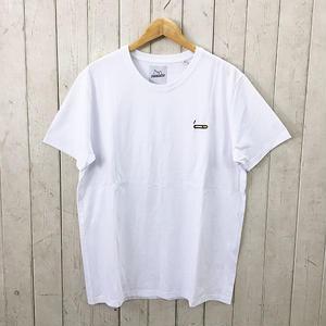 ☆8bitデザインの刺繍Tシャツ☆BRICKTOWN【ブリックタウン】S/S TEE  TOBACCO WHITE