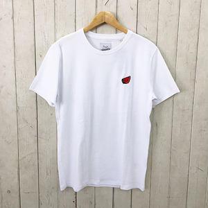 ☆8bitデザインの刺繍Tシャツ☆BRICKTOWN【ブリックタウン】S/S TEE  WATERMELON WHITE