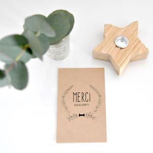 M-25 messagecard ★ little leafs wreath クラフト紙 15枚